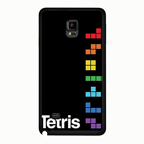 Coque Samsung Galaxy Note 4 Phone Case Tetris Classic Game Block Noir Protective Cover,Cas De Téléphone