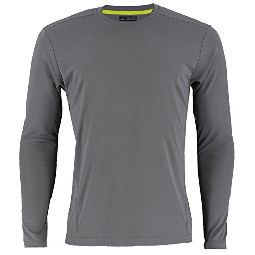 adidas Mens Baselayer Climalite UPF Long-Sleeve Crew Shirt Underwear (1-Pack), Grey, Medium