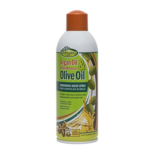 Sofn'Free GroHealthy Argan Oil and Olive Oil Nourishing Sheen Spray 14.9 Oz. - Healing Oil Sheen Spray