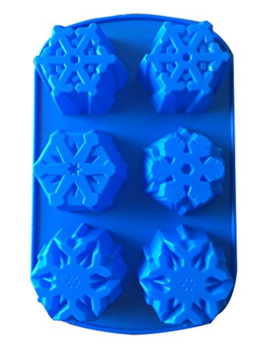 May & Co Snowflakes Silicone Cake Mold 6 Cav]()