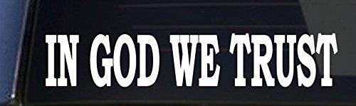 IN-GOD-WE-TRUST-BUMPER-STICKER-SECOND-AMENDMENT-85x15-Inch-Window-Decal