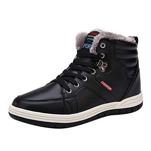 bd5f2dfed39 good Hommes Chaussures de sport à lacets Sneakers - hibote Chaussures  Casual Hommes Chaud Rembourré Hiver