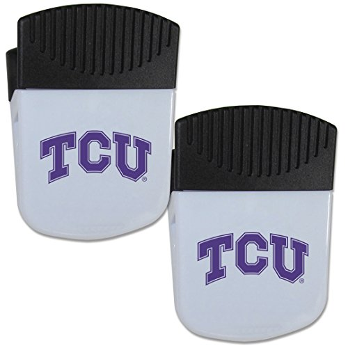 Tcu Horned Frogs Bottle - Siskiyou NCAA TCU Horned Frogs Chip Clip Magnet with Bottle Opener, 2 Pack