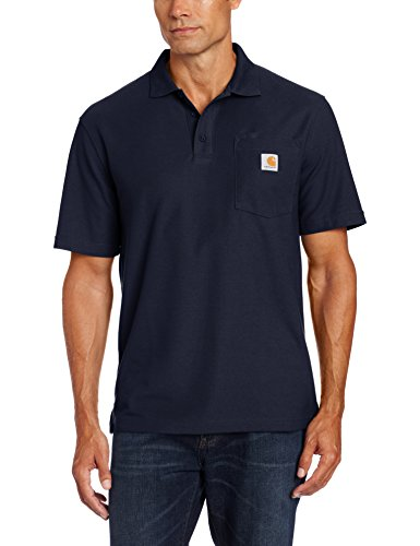 Carhartt Men's Contractors Work Pocket Polo,Navy,X-Large