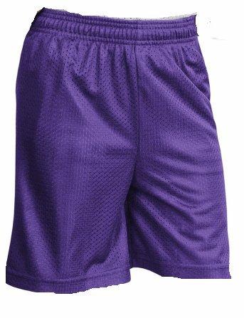 Joe's USA - Youth Mesh Basketball Short (Purple, Youth Small)