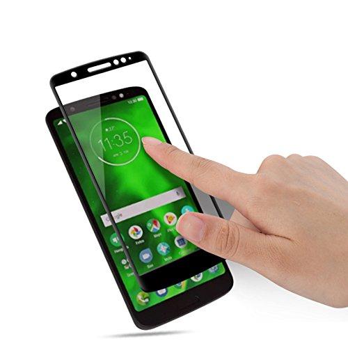 Película de Vidro 3D, Cell Case para Smarphone Moto G6 Play XT1922, Película Protetora de Tela para Celular, Preto