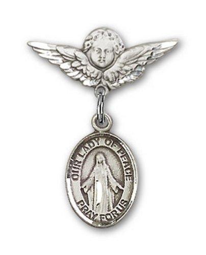 Icecarats Créatrice De Bijoux En Argent Sterling O / L De Charme Ange Pin Badge De Paix 7/8 X 3/4