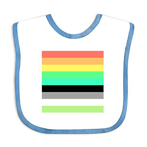 Baby Super Absorbent, Rainbow Pride Flag Drool Bibs for Boys & Girls (Bib Elodie Detail)