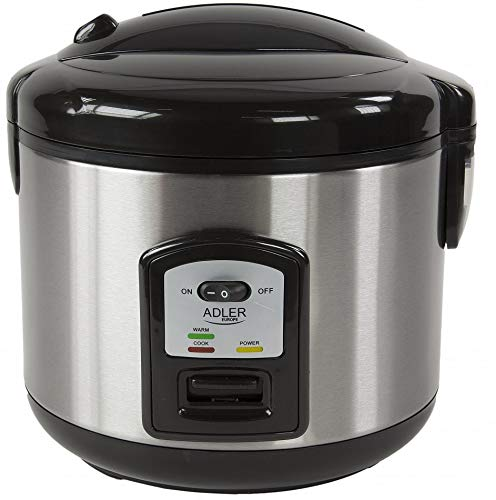 Reiskocher | 1,5 Liter | Multikocher | Dampfgarer | Dampfgargerät | Edelstahl Schnellkochtopf | Reis Kochtopf | Warmhaltefunk