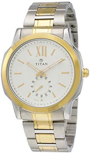 Titan Regalia Rome Analog White Dial Men #39;s Watch NK1721BM01 / NK1721BM01