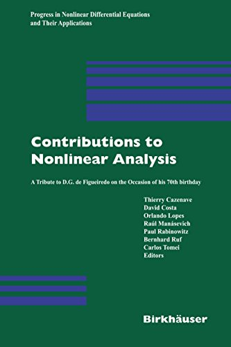 Contributions to Nonlinear Analysis: A Tribute to D.G. de Figueiredo on the Occasion of his 70th Birthday: 66 (Progress in Nonlinear Differential Equations and Their Applications)