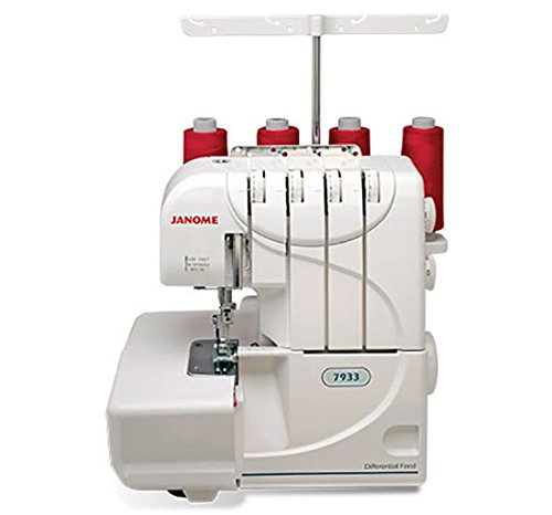 Janome 7933 Serger with Lay-In Threading, 3 and 4 Thread Con
