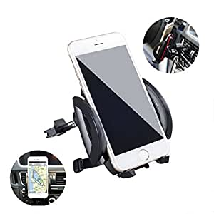 Car Mount, Bluebits Air Vent Car phone holder Easy Setup with Strong Grip 360° Rotate Universal Smartphone Cradle for iPhone and Android devices