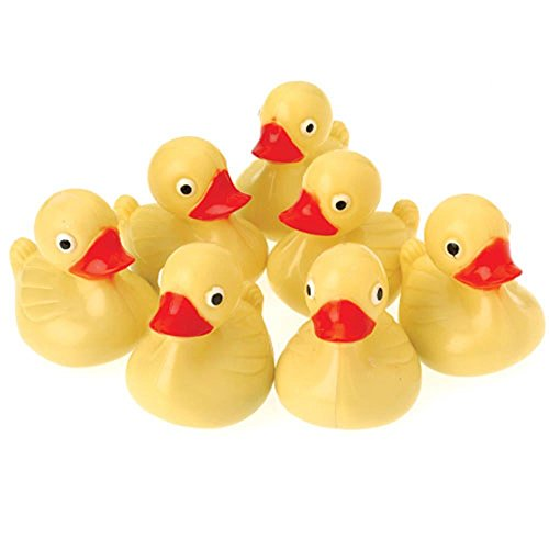 (US Toy Hard Plastic Yellow Duck Pond Floaters (Lot of 12), 3