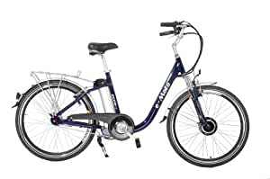 e-Moto Ecco 2.5 Electric Cruiser Bicycle (Blue, 26-18-Inch)