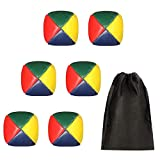 Chenkaiyang 6 Pack Juggling Balls Set for Beginners + Storage Bag Quality Mini Soft Easy Durable Juggle Ball Kit for Kids and Adults