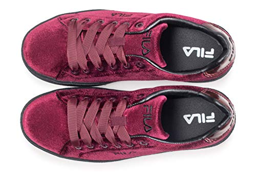 Donna V Upstage Sneakers Shoes Fila Borgogna Moda Low YOgx115nq