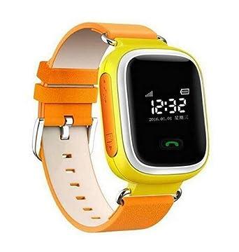 Kids GPS reloj inteligente Q60 reloj de pulsera SOS Llamada Location Finder Localizador Tracker Smartwatch para seguro para el bebé monitor anti-lost: ...