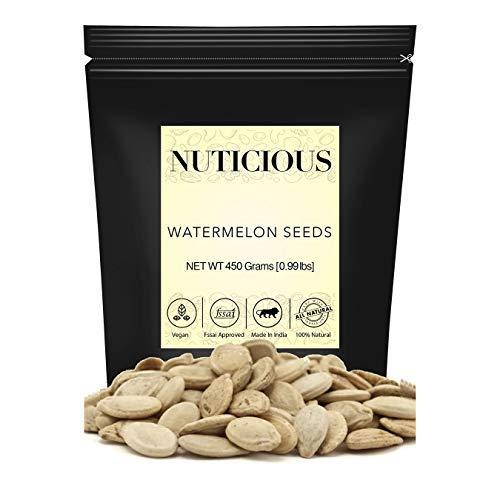 NUTICIOUS Natural Watermelon Seeds-450 ge ( Gourmet Vegan Food Premium Quality)