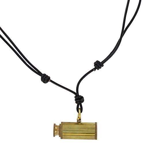 Land Ho! Moveable Pirate Telescope Brass Pendant -