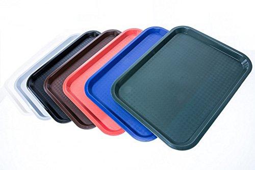 SIXBY Fast Food Servier Tablett 35 x 27 cm, Farbe (Schwarz)