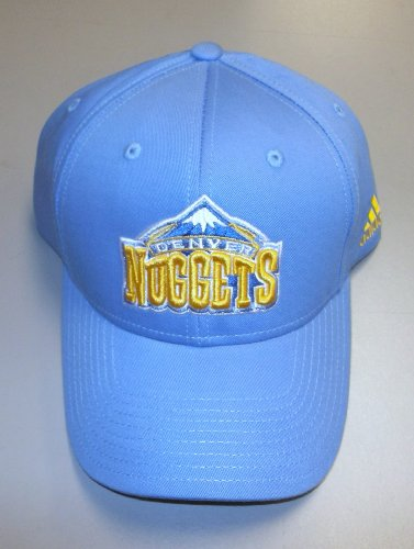 Denver Nuggets Basic Logo Cotton Primary Adjustable Strapback Hat Adidas Denver Nuggets Primary