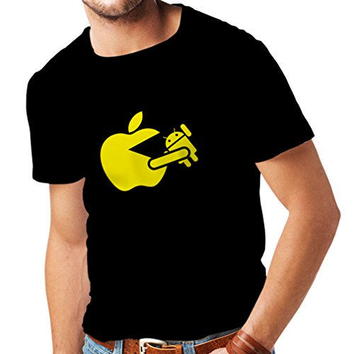 T Shirts for Men Funny Apple Eating a