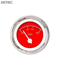 Aurora Instruments GAR248ZMXLABCD VX Red Water Temperature Gauge