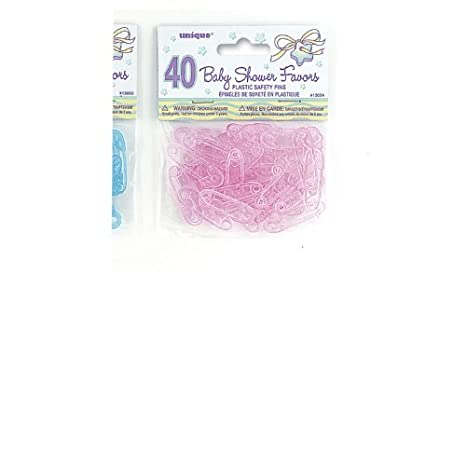 Amazon.com: Rosa de plástico Pin de seguridad Girl Baby ...