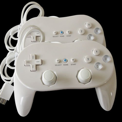 2 Classic Controller Pro For Nintendo Wii Remote White US Ship (Steam Games Gift Card compare prices)