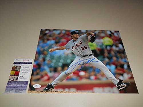 Justin Verlander Hand Autographed Signed 11x14 Picture - JSA Certified #N59733 Baseball Detroit Tigers MLB - Signed MLB Baseball Pictures