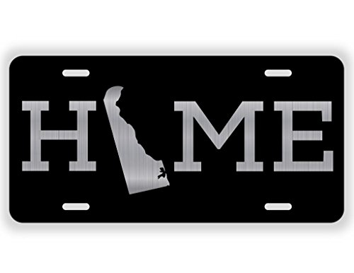 Dover Vanity - JMM Industries Home Delaware State DE Vanity Novelty License Plate Tag Metal 6-Inches by 12-Inches Etched Aluminum UV Resistant ELP074