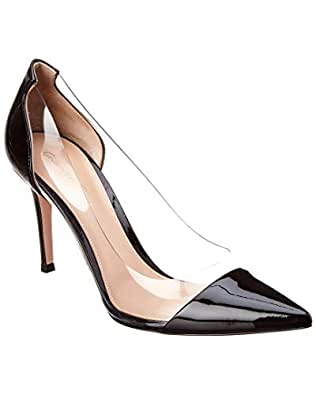 4ca6ffd3554 Image Unavailable. Image not available for. Color  Gianvito Rossi Plexi 85  Patent Pump ...