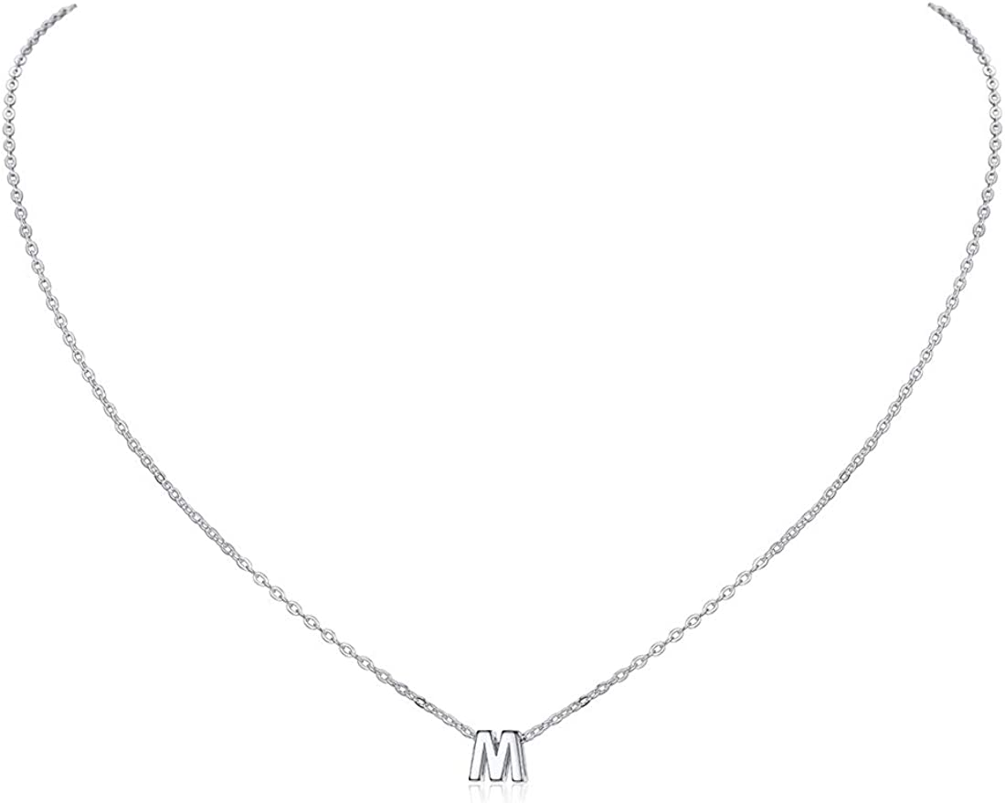 ChicSilver 925er Sterling Silber Buchstabenkette A bis Z Platin//18k Halskette mit Buchstaben Anh/änger mit Schmuckbox f/ür Damen und M/ädchen