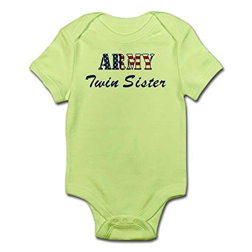 CafePress Army Twin Sister (Patriotic) Infant Bodysuit - Cute Infant Bodysuit Baby (Patriotic Military Infant Bodysuit)