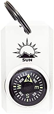 MiniComp - Zipperpull Mini Compass with Split Ring   Easy-to-Read Compass for Jacket, Parka, or Pack