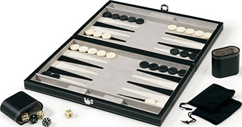 - Mainstreet Classics 15-Inch Backgammon Board Game Set