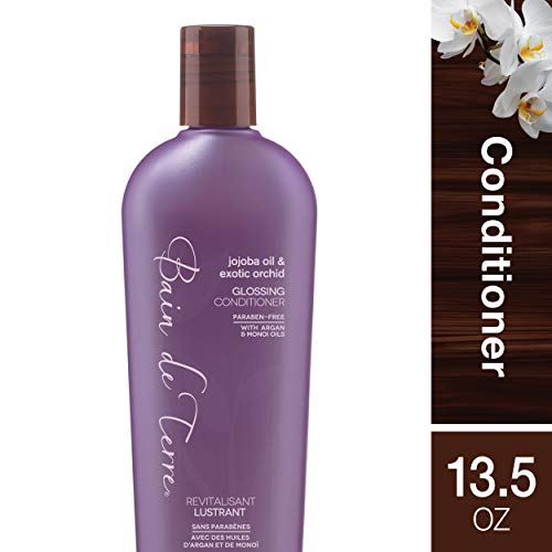 Bain de Terre Jojoba Oil and Exotic Orchid Glossing Conditioner, with Argan and Monoi Oil, Paraben-Free, 13.5-Ounce