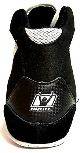 Brute Xplode Wrestling Shoes - Black/Silver - 8.5