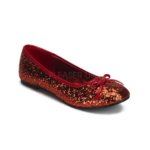 Funtasma by Pleaser Women's Star-16G Flat,Red Glitter,6 M US ()