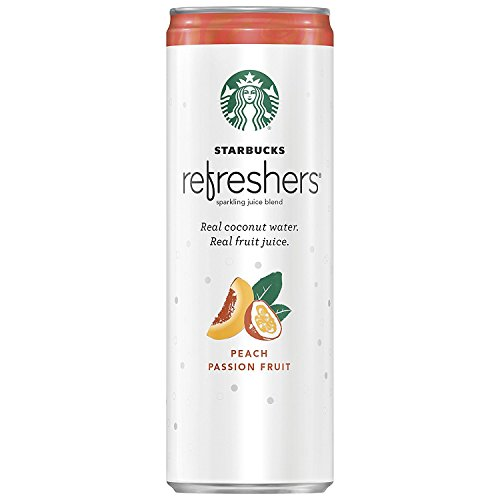 24 Pack - Starbucks Refreshers - Peach Passion Fruit - 12oz.