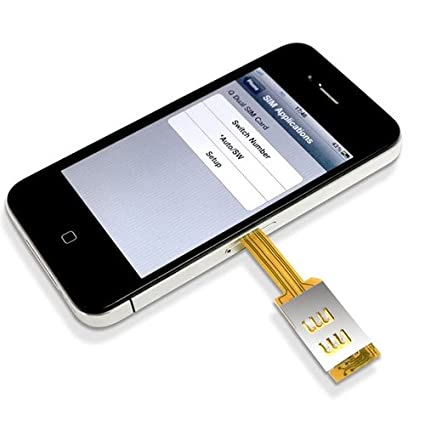 Amazon.com: Gaorui Dual SIM adaptador de tarjeta con Back ...