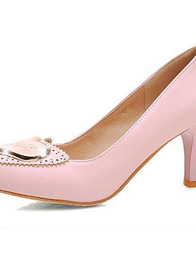 GGX/Damen Schuhe PU Sommer/spitz Toe Heels Büro & Karriere/Casual Stiletto Heel Aufnäher grün/pink/beige green-us9 / eu40 / uk7 / cn41