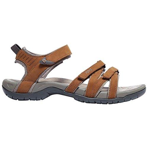 Teva Women's Tirra Leather Sandal,Rust,7 M ()
