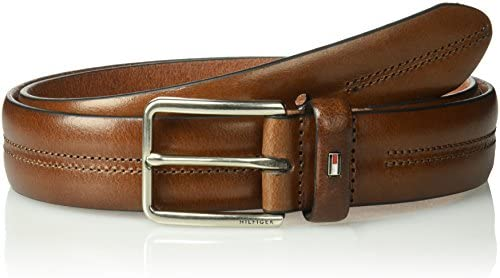 [해외]Tommy Hilfiger 남성용 캐주얼 벨트 / Tommy Hilfiger Men`s Casual Belt, brown stitch, 40