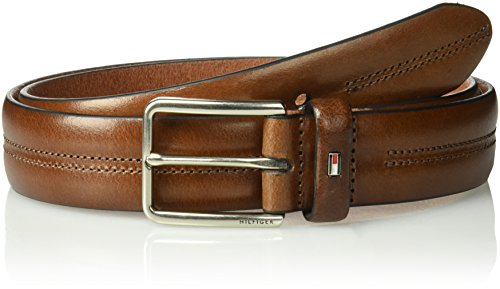(Tommy Hilfiger Men's Casual Belt, brown stitch, 36)