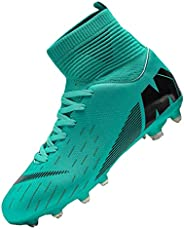 CERYTHRINA Mens Soccer Cleats Athletic Firm Ground High-Top Football Soccer Shoe for Big Kids
