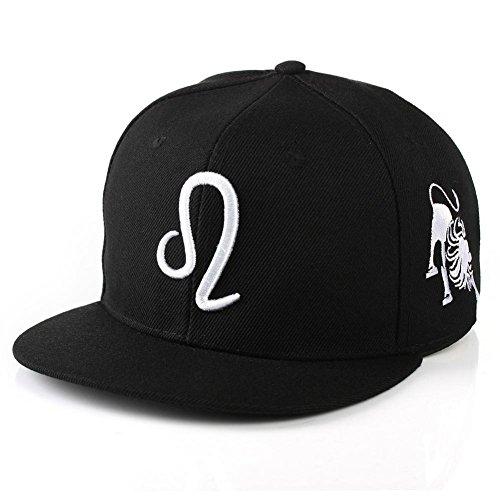 BIBITME Hip Hop 12 Constellation Embroidered Zodiac Hats Baseball Cap Snapback (Adjustable circumference:22
