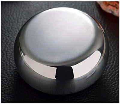 車の灰皿ステンレス鋼のすすのカバーで大規模なヨーロッパメタル灰皿防風 (Color : Silver)