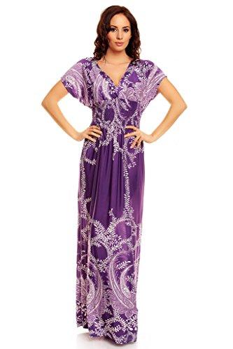 Y Leopardo Dress Flores Largo Magenta Con Estampado Veraniego Vestido My Evening 8xqwzgaqB